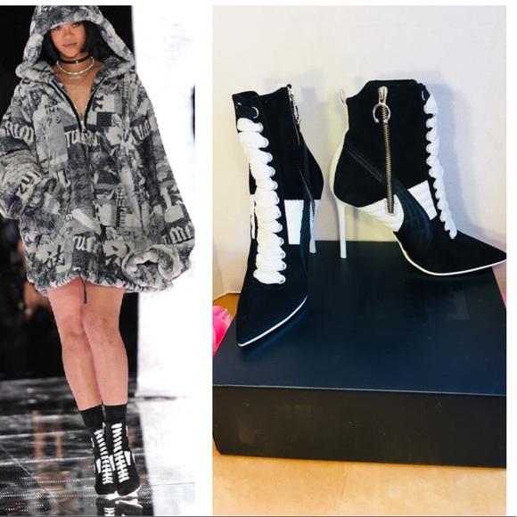 694d39aba516 FENTY PUMA Shoes - FENTY PUMA RIHANNA HIGH HEEL SUEDE SNEAKER HEELS